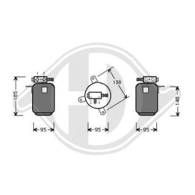 Filtre déshydratant, climatisation - HDK-Germany - 77HDK8122202