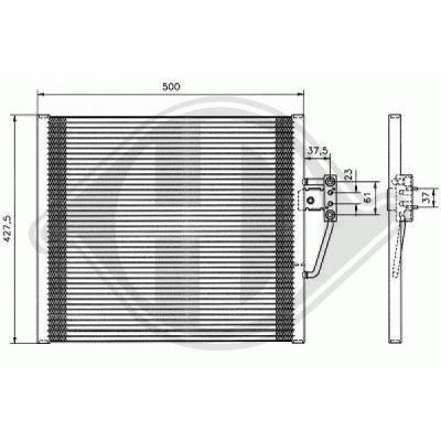 Condenseur, climatisation - Diederichs Germany - 8122301