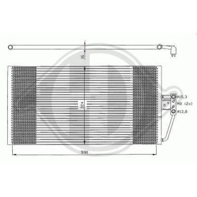 Condenseur, climatisation - Diederichs Germany - 8122302