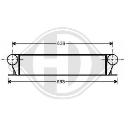Intercooler, échangeur - Diederichs Germany - 8122309