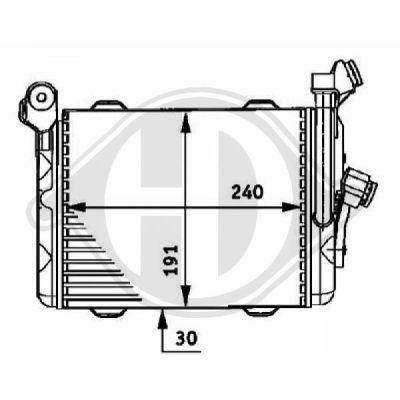 Radiateur d'huile de boite de vitesse automatique - Diederichs Germany - 8122310