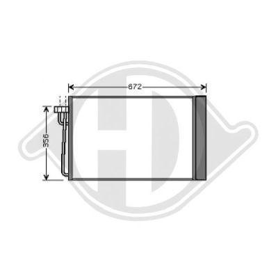 Condenseur, climatisation - Diederichs Germany - 8122400