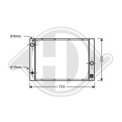 Radiateur, refroidissement du moteur - Diederichs Germany - 8122405