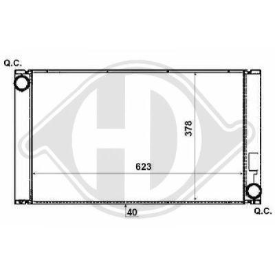 Radiateur, refroidissement du moteur - HDK-Germany - 77HDK8122406