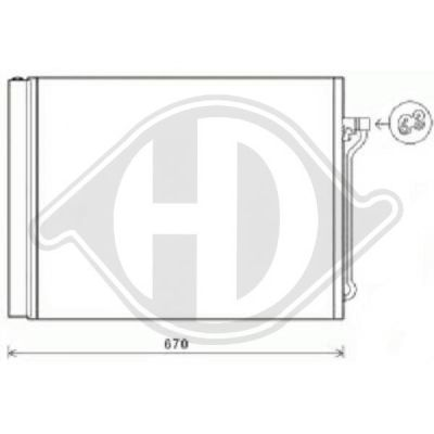 Condenseur, climatisation - Diederichs Germany - 8122501