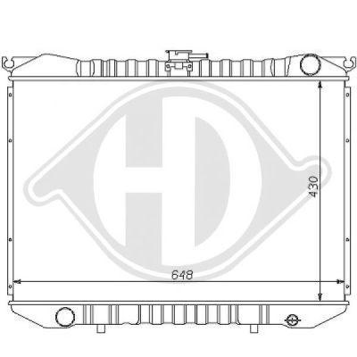 Radiateur, refroidissement du moteur - HDK-Germany - 77HDK8124105