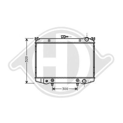 Radiateur, refroidissement du moteur - Diederichs Germany - 8124107