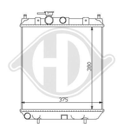 Radiateur, refroidissement du moteur - HDK-Germany - 77HDK8124113