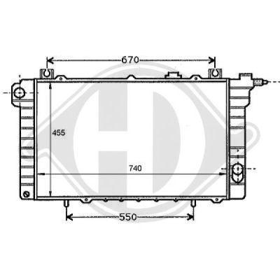 Radiateur, refroidissement du moteur - HDK-Germany - 77HDK8124116