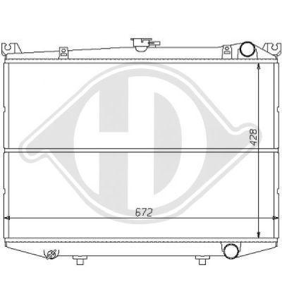 Radiateur, refroidissement du moteur - HDK-Germany - 77HDK8124125