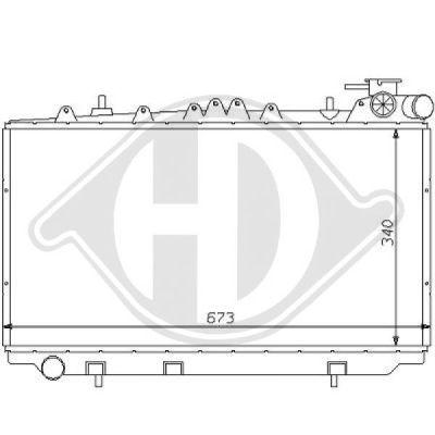 Radiateur, refroidissement du moteur - Diederichs Germany - 8124132