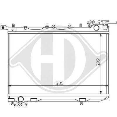 Radiateur, refroidissement du moteur - Diederichs Germany - 8124140