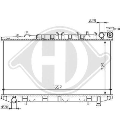 Radiateur, refroidissement du moteur - Diederichs Germany - 8124143