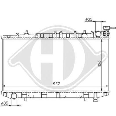 Radiateur, refroidissement du moteur - HDK-Germany - 77HDK8124144