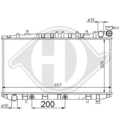 Radiateur, refroidissement du moteur - Diederichs Germany - 8124146