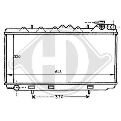 Radiateur, refroidissement du moteur - Diederichs Germany - 8124147