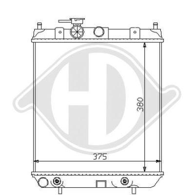 Radiateur, refroidissement du moteur - HDK-Germany - 77HDK8124148