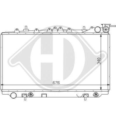 Radiateur, refroidissement du moteur - Diederichs Germany - 8124151