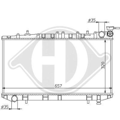 Radiateur, refroidissement du moteur - Diederichs Germany - 8124157