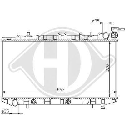 Radiateur, refroidissement du moteur - HDK-Germany - 77HDK8124158