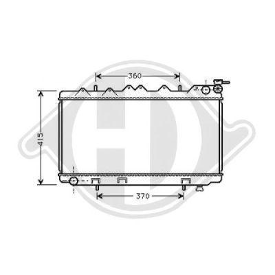 Radiateur, refroidissement du moteur - Diederichs Germany - 8124159