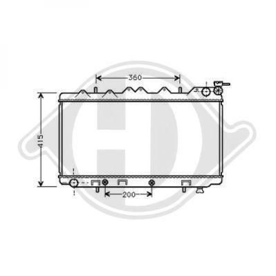 Radiateur, refroidissement du moteur - Diederichs Germany - 8124160