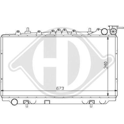 Radiateur, refroidissement du moteur - Diederichs Germany - 8124161