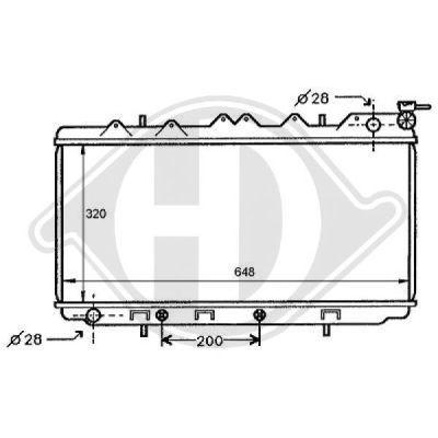 Radiateur, refroidissement du moteur - Diederichs Germany - 8124171