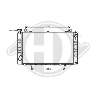Radiateur, refroidissement du moteur - Diederichs Germany - 8124185