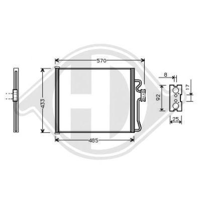 Condenseur, climatisation - Diederichs Germany - 8124200