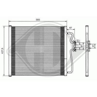 Condenseur, climatisation - Diederichs Germany - 8124201