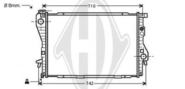 Radiateur, refroidissement du moteur - Diederichs Germany - 8124205