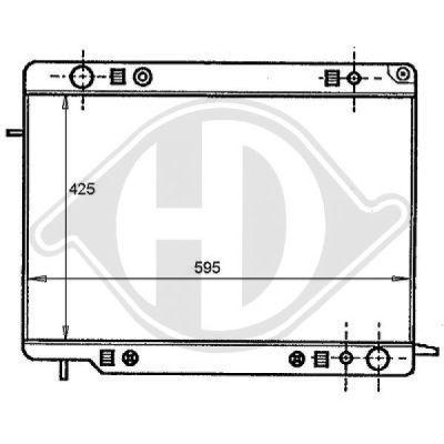 Radiateur, refroidissement du moteur - Diederichs Germany - 8125109