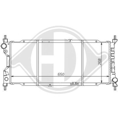 Radiateur, refroidissement du moteur - Diederichs Germany - 8125140