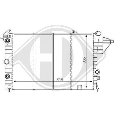 Radiateur, refroidissement du moteur - Diederichs Germany - 8125152