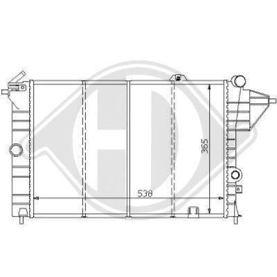 Radiateur, refroidissement du moteur - Diederichs Germany - 8125154