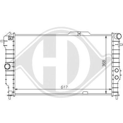 Radiateur, refroidissement du moteur - Diederichs Germany - 8125160
