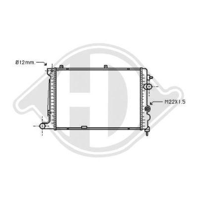 Radiateur, refroidissement du moteur - Diederichs Germany - 8125165