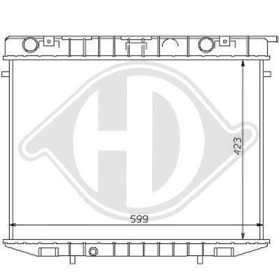 Radiateur, refroidissement du moteur - HDK-Germany - 77HDK8125166