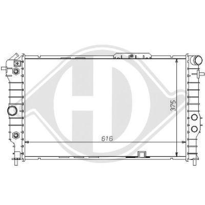 Radiateur, refroidissement du moteur - Diederichs Germany - 8125168
