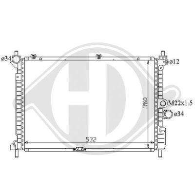 Radiateur, refroidissement du moteur - Diederichs Germany - 8125177