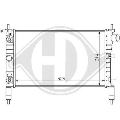 Radiateur, refroidissement du moteur - Diederichs Germany - 8125180