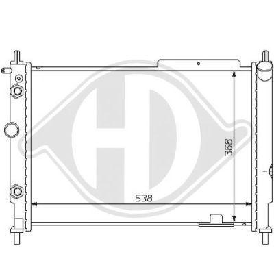 Radiateur, refroidissement du moteur - Diederichs Germany - 8125183