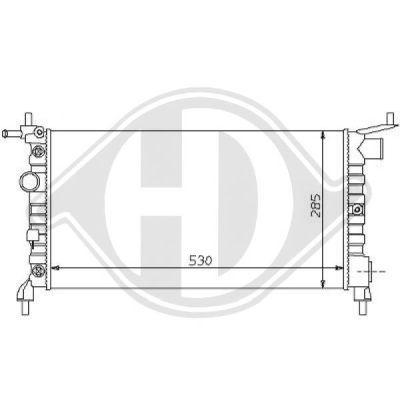 Radiateur, refroidissement du moteur - Diederichs Germany - 8125185