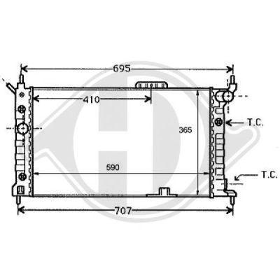 Radiateur, refroidissement du moteur - HDK-Germany - 77HDK8125187