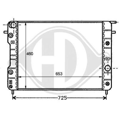 Radiateur, refroidissement du moteur - HDK-Germany - 77HDK8125201