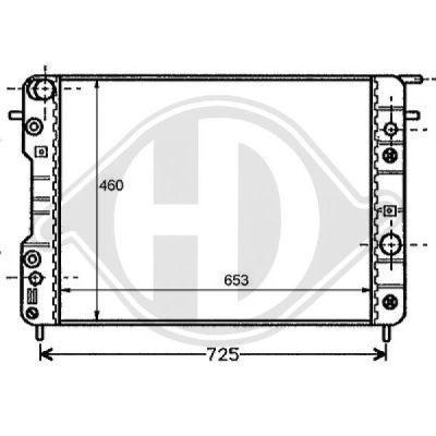 Radiateur, refroidissement du moteur - HDK-Germany - 77HDK8125202