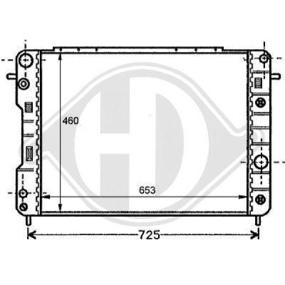 Radiateur, refroidissement du moteur - Diederichs Germany - 8125203
