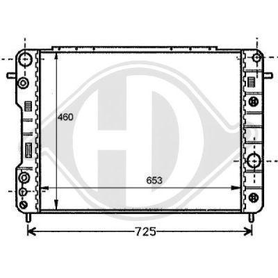 Radiateur, refroidissement du moteur - Diederichs Germany - 8125204