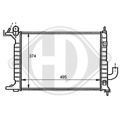 Radiateur, refroidissement du moteur - Diederichs Germany - 8125208